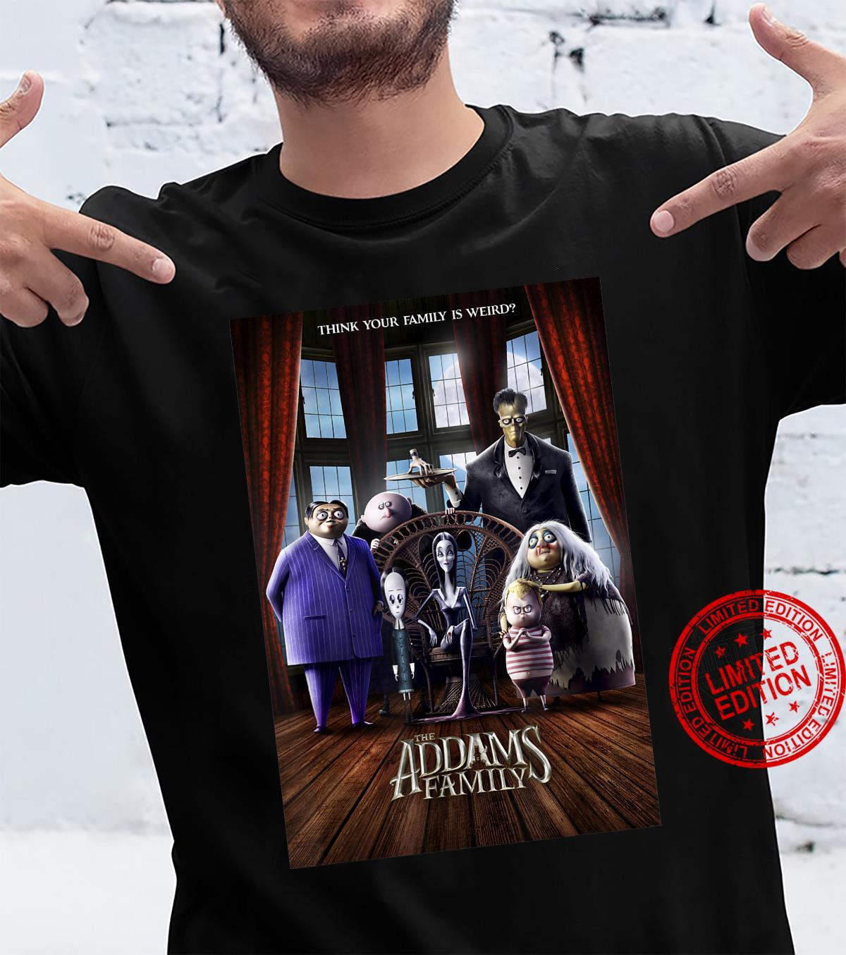 Addams Family Group Shot Portrait Movie Poster Shirt
