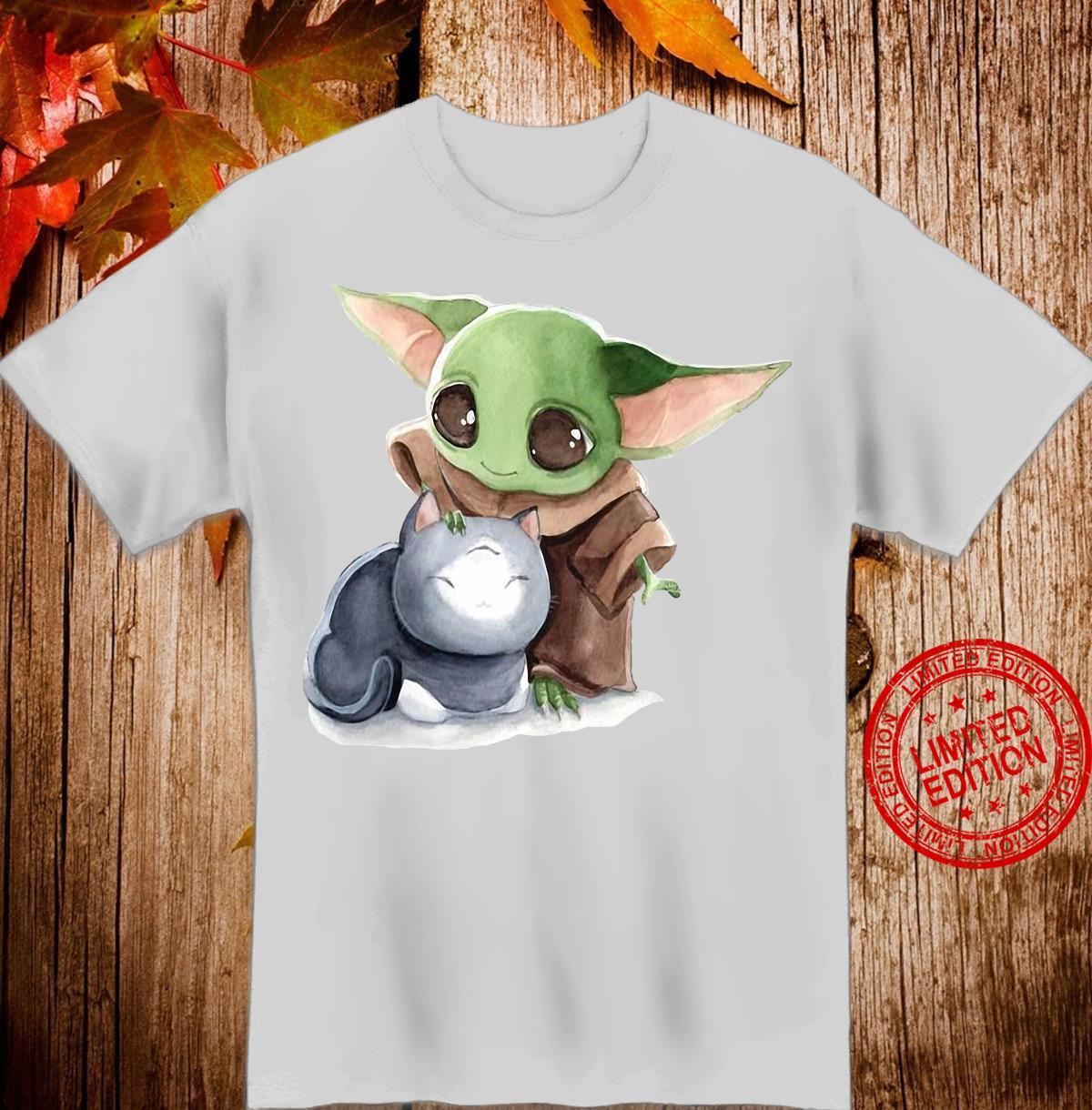 Baby Yoda And Cat Shirt