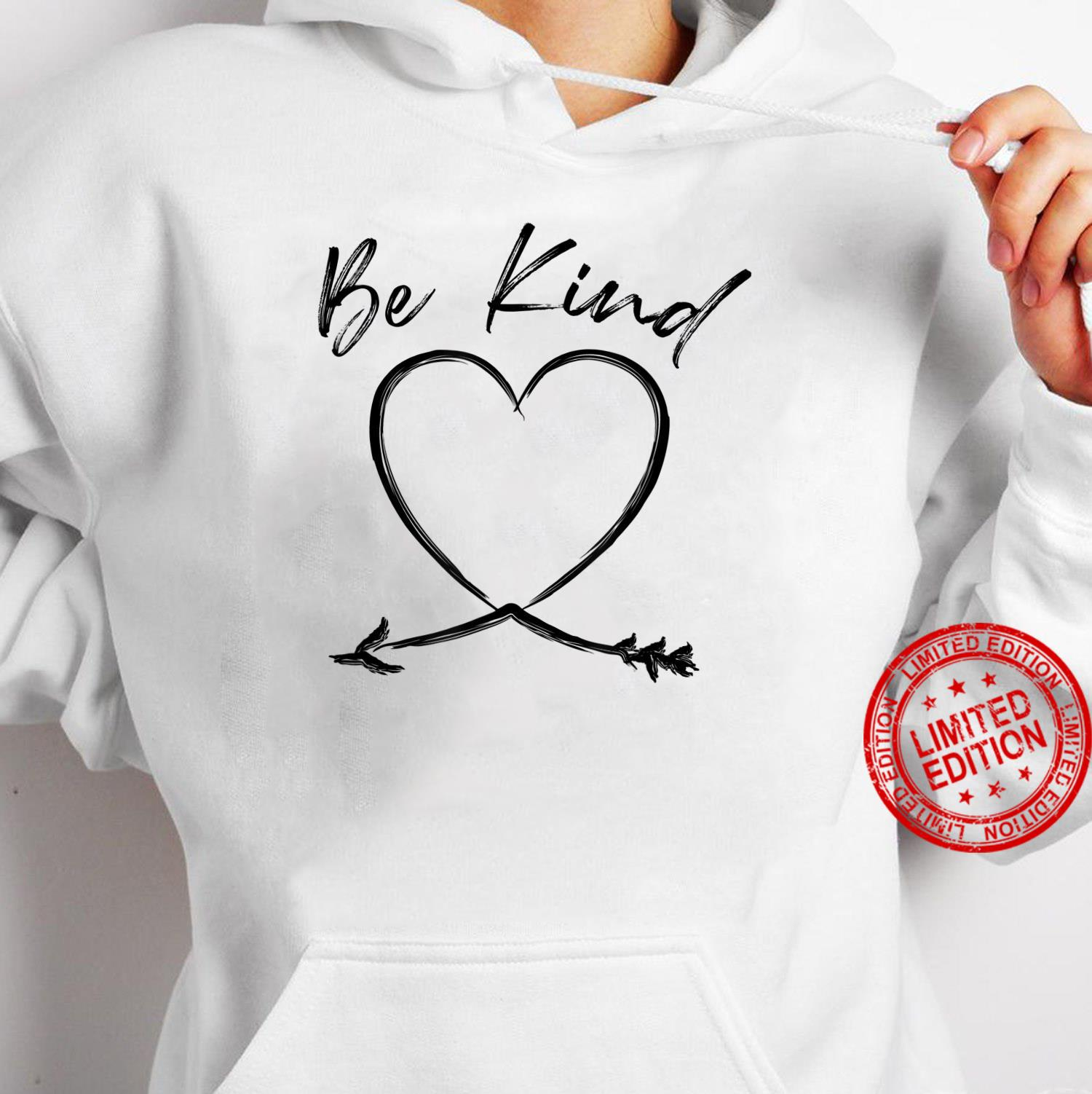 Be Kind Handwritten Heart Arrow Mother's Day Shirt hoodie