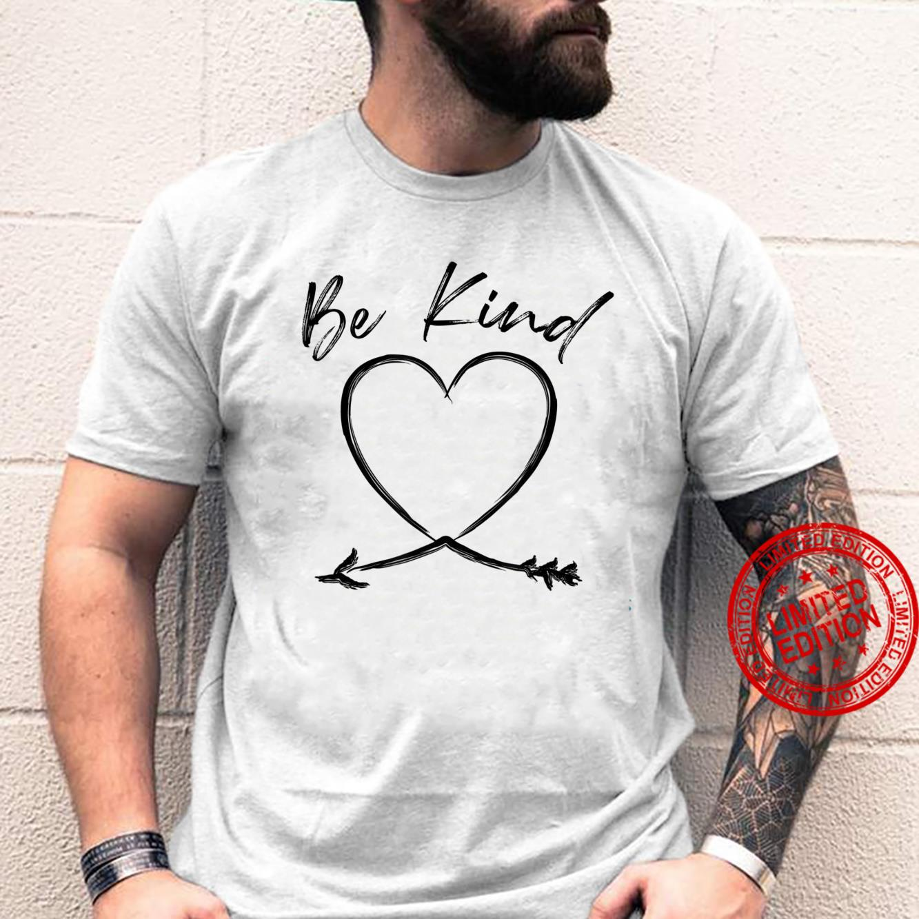 Be Kind Handwritten Heart Arrow Mother's Day Shirt