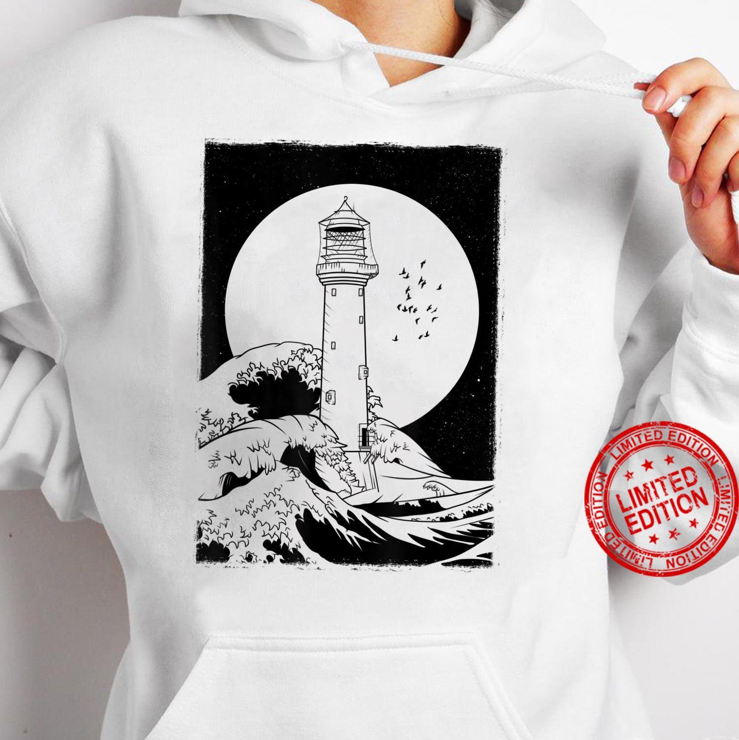 Bell Rock Lighthouse Scotland Shirt hoodie