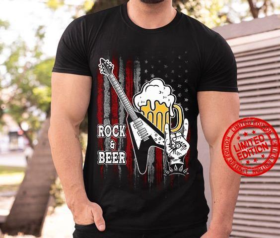 Electric Guitar And Beer Rock & Beer Shirt