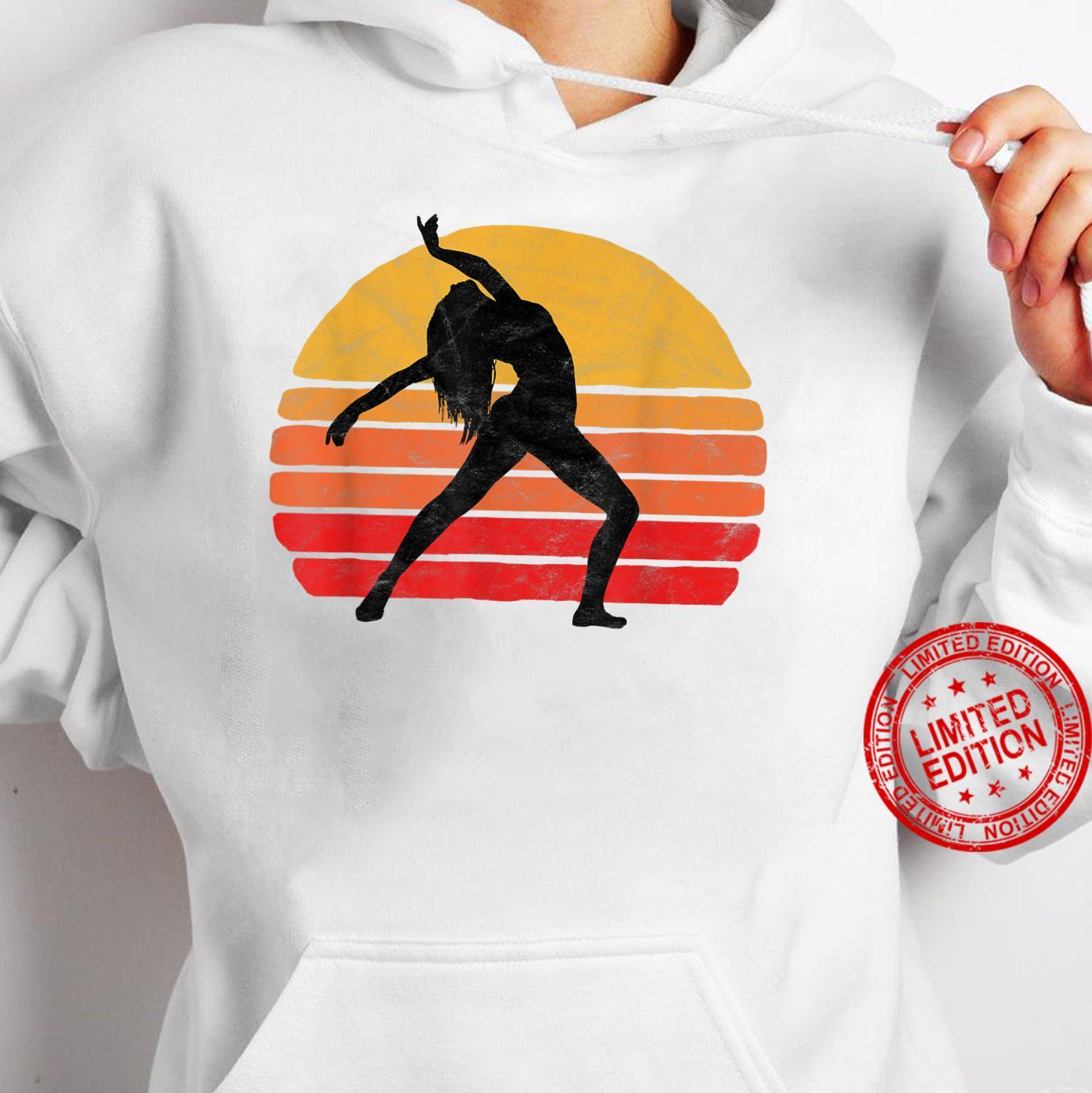 Modern Dancer Silhouette & Sun Vintage 80's Dance Graphic Shirt hoodie