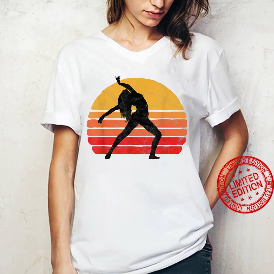 Modern Dancer Silhouette & Sun Vintage 80's Dance Graphic Shirt ladies tee