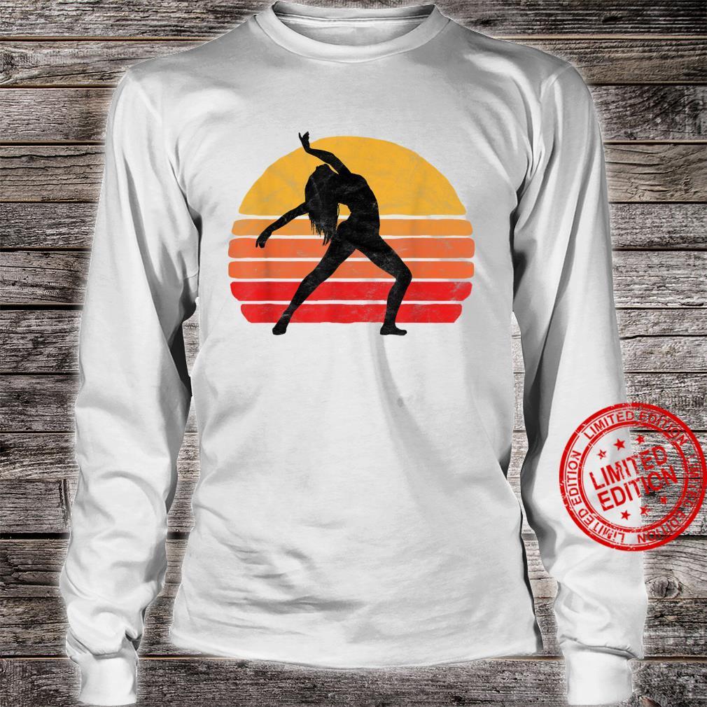 Modern Dancer Silhouette & Sun Vintage 80's Dance Graphic Shirt long sleeved