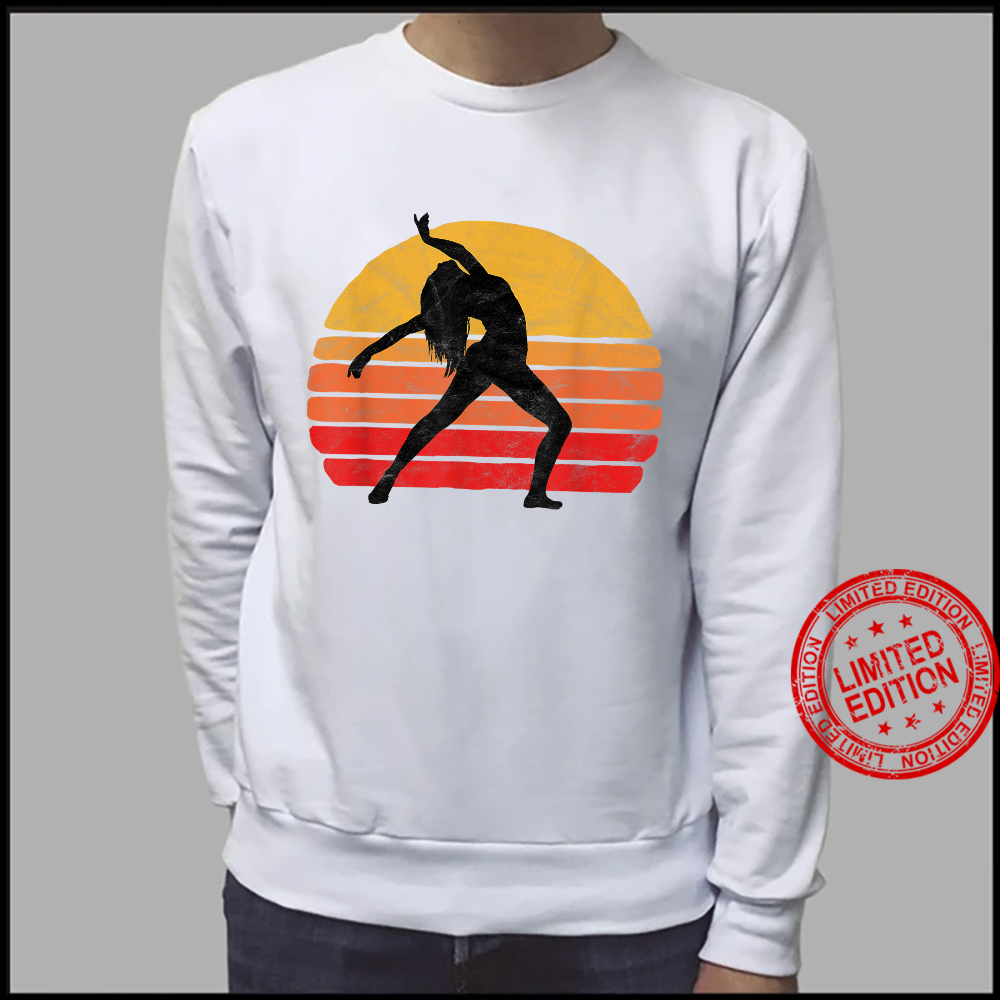 Modern Dancer Silhouette & Sun Vintage 80's Dance Graphic Shirt sweater