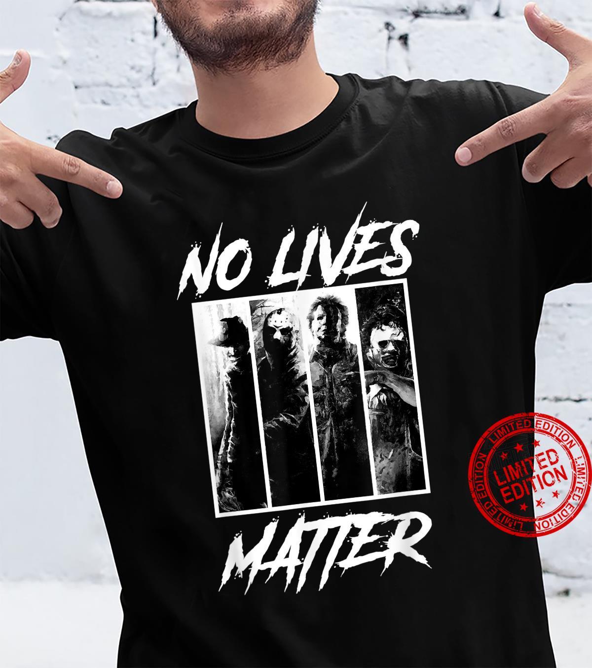 No Lives Matter Slashers Michael Myers Halloween Horror Shirt