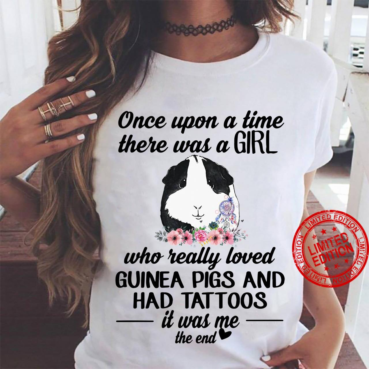 Once upon a time there was a girl who really loved Guinea pigs ladies shirt ladies tee