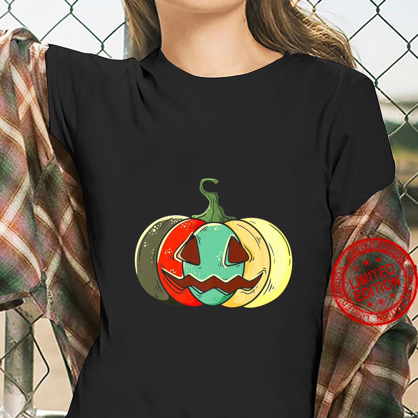 Retro Pumpkin Shirt ladies tee