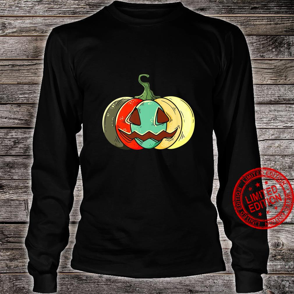 Retro Pumpkin Shirt long sleeved