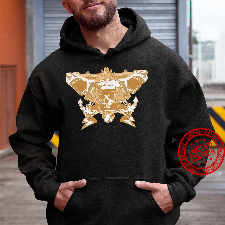 Skull Soldier Shark Attack Costume Cool Easy Halloween Shirt hoodie