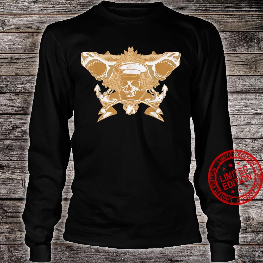 Skull Soldier Shark Attack Costume Cool Easy Halloween Shirt long sleeved