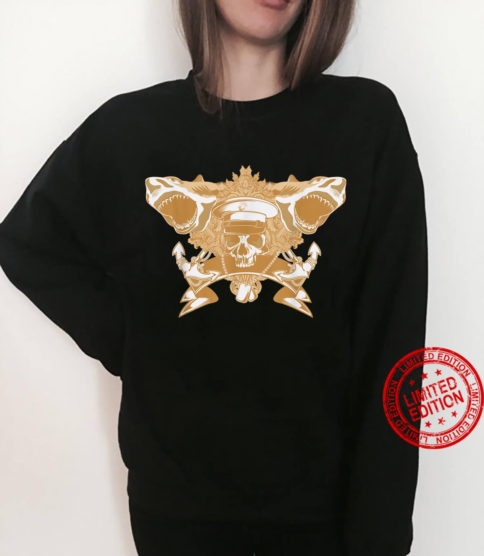 Skull Soldier Shark Attack Costume Cool Easy Halloween Shirt sweater