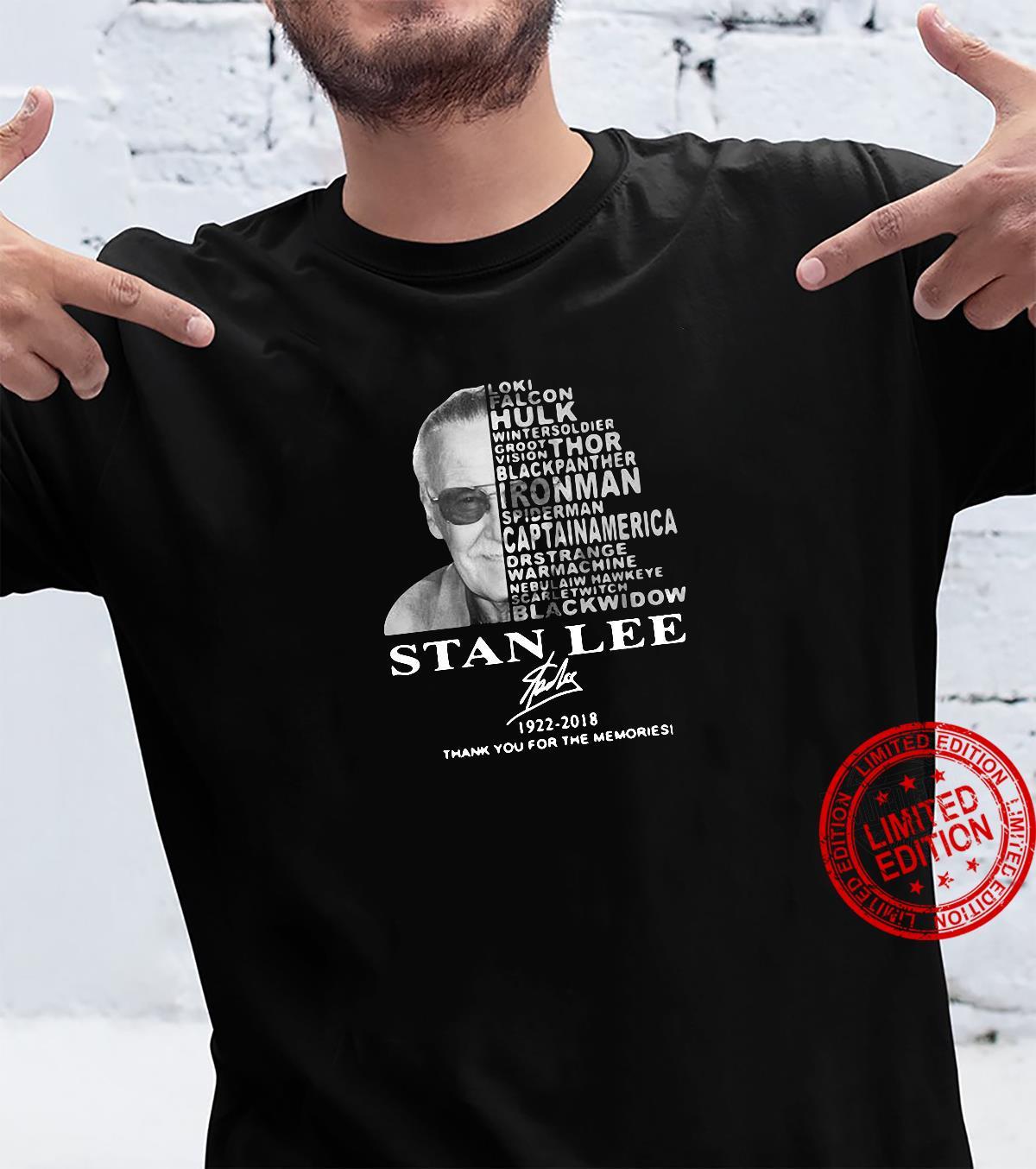 Stan Lee Loki falcon 1922-2018 thank you for the memories shirt
