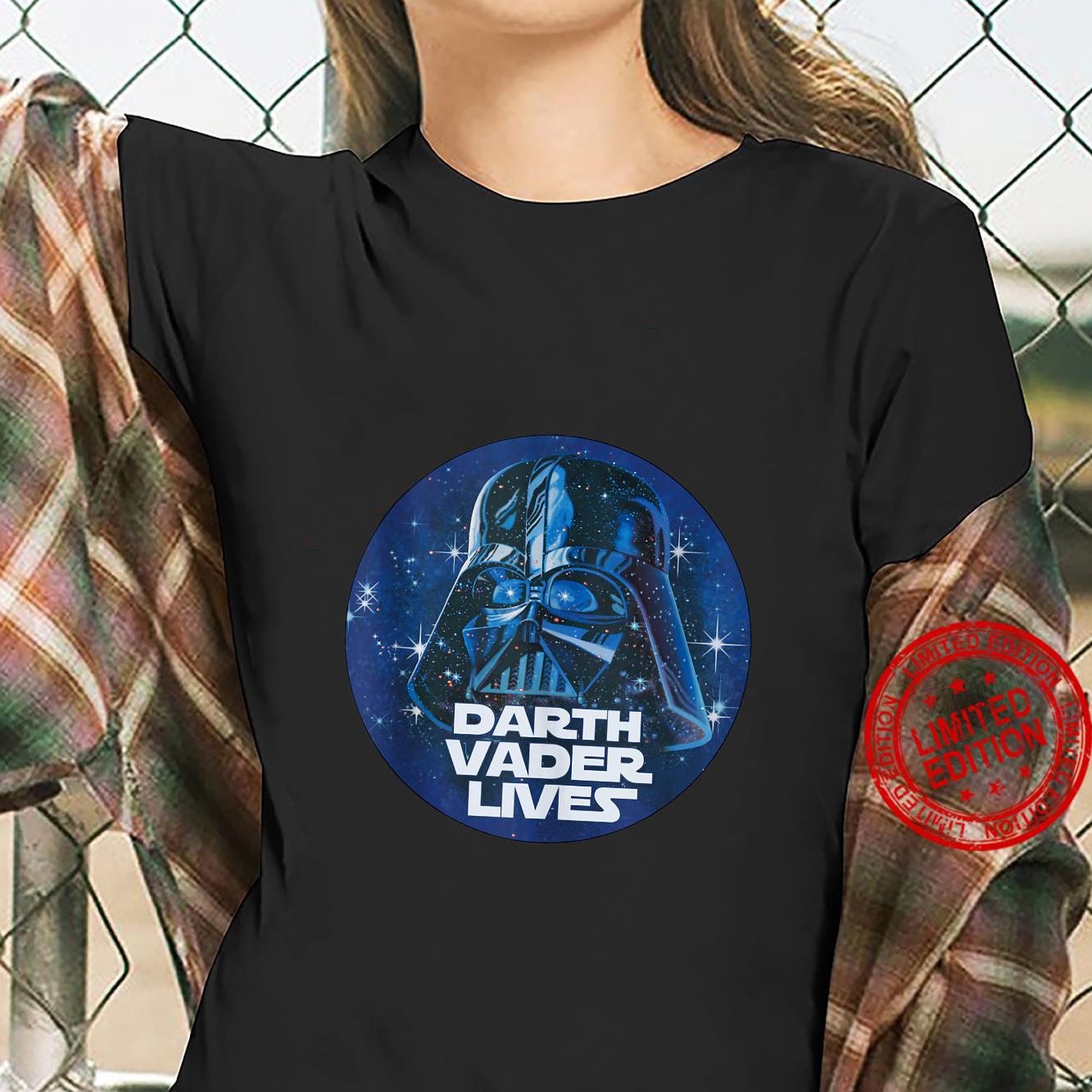 Star Wars Darth Vader Lives Circle Portrait Shirt ladies tee