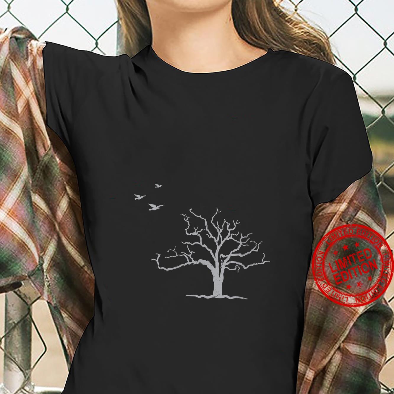 Tree And Birds Nature Shirt ladies tee