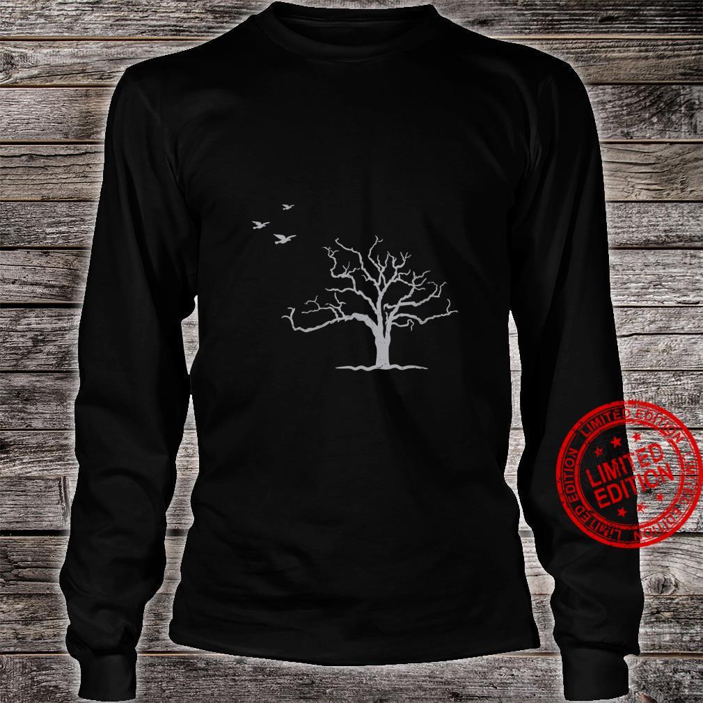 Tree And Birds Nature Shirt long sleeved