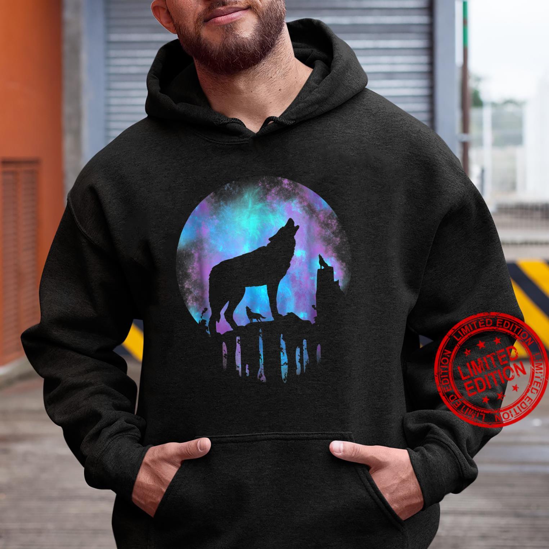 Wolf Galaxy Moon Shirt hoodie