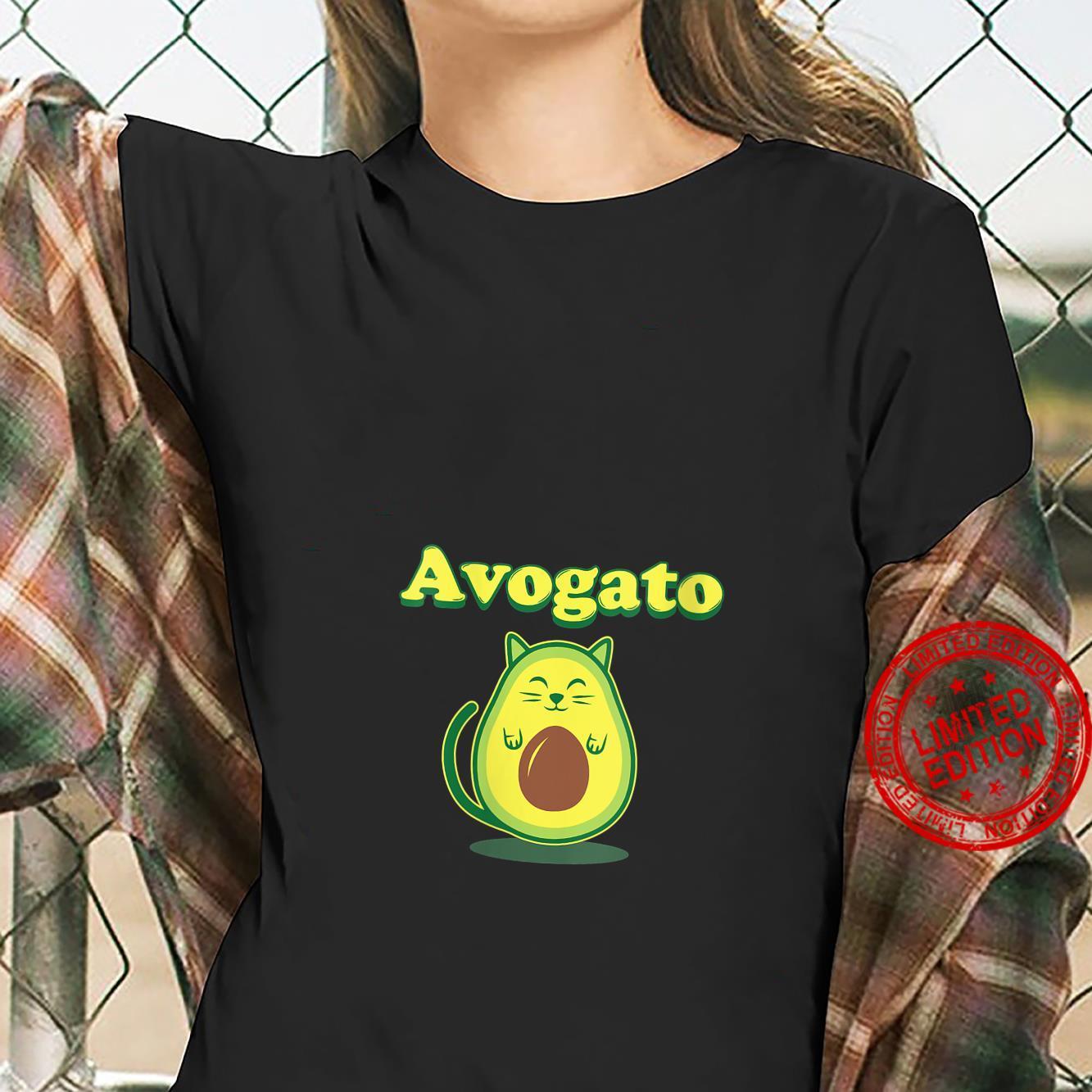 Womens Avocato Cat Avocado Food Shirt ladies tee