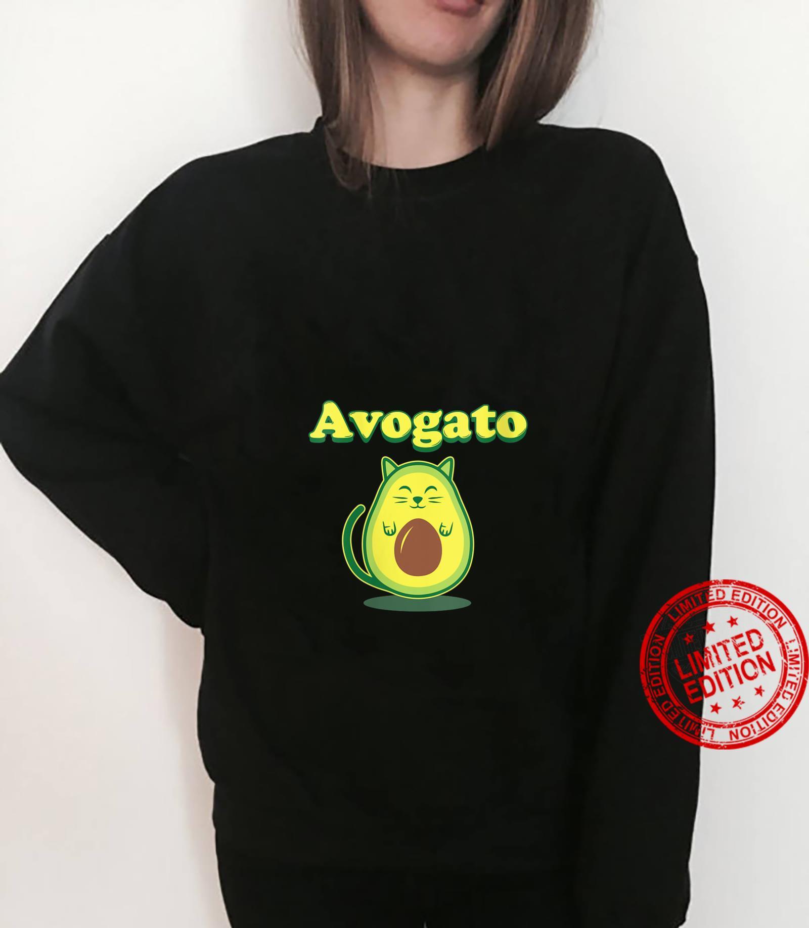 Womens Avocato Cat Avocado Food Shirt sweater