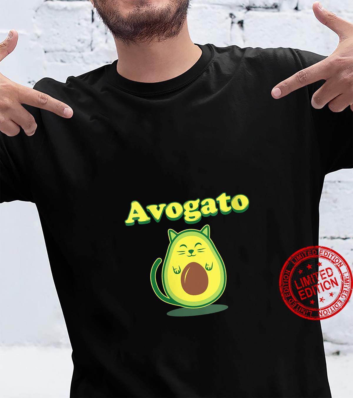 Womens Avocato Cat Avocado Food Shirt