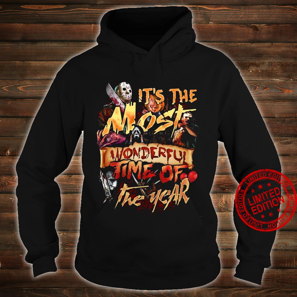 Horror Movies It's The Most Wonderful Time Of The Year Shirt hoodie
