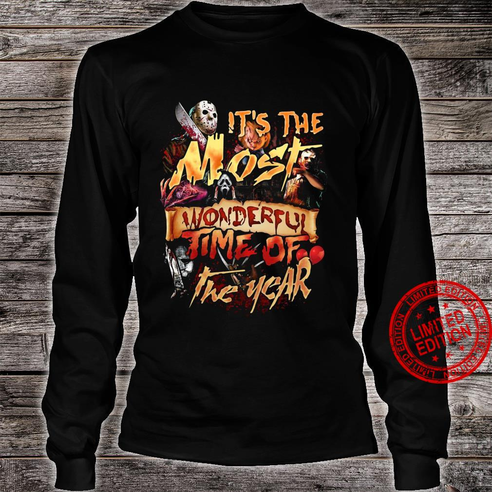 Horror Movies It's The Most Wonderful Time Of The Year Shirt long sleeved