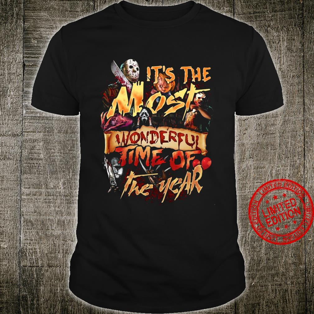 Horror Movies It's The Most Wonderful Time Of The Year Shirt unisex