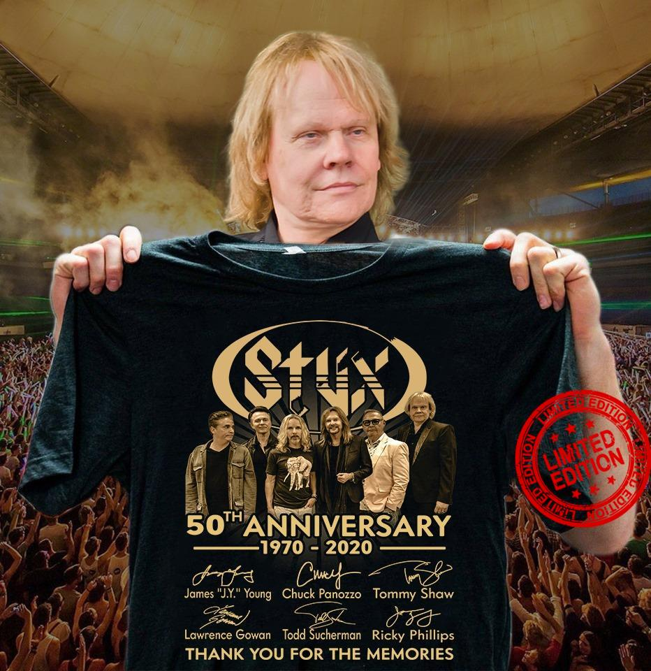 Stux 50th Anniversary 1070-2020 Thank You For The Memories Shirt