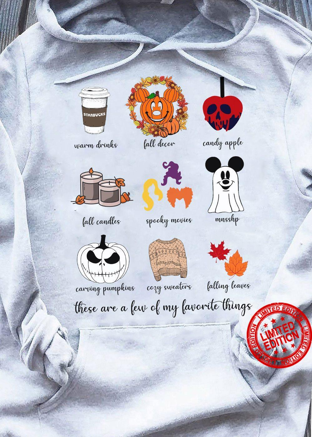 Warm Drinks Fall Decor Candy Apple Fall Candles Spooky Movies Shirt